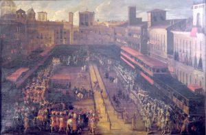 —Giovanni Ferri, Giostra del Saracino a piazza Navona del 25 febbraio 1634 - Palazzo Braschi